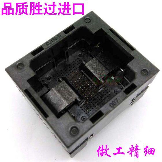 BGA107 sous pression shrapnel test de vieillissement adaptateur prise 0.8 bloc Flash espacement des particules NAND programmation Blockmm, 14*18mm
