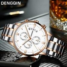 DENGQIN Relogio Masculino Для мужчин часы Роскошные известный бренд Мужская мода повседневные платья часы военные Кварцевые наручные часы Saat