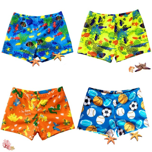 High Quality Green ocean Cartoon Children swimming Trunks kid boys Girl Baby Animal Football Cartoon swimwear trunks swim shorts