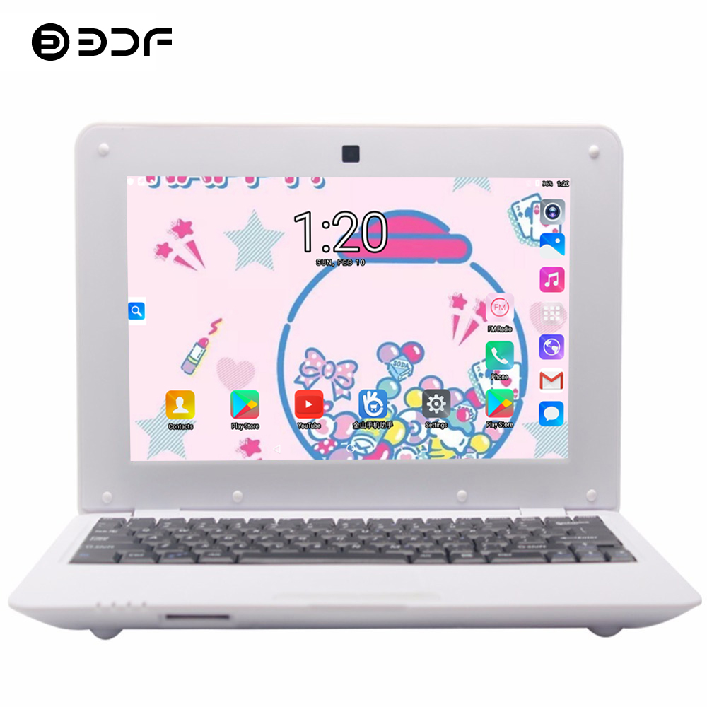 2019 BDF New 10.1 Inch Notebook Laptop Inch Quad Core Android 6.0 7029 1.5GHZ WiFi Bluetooth Mini Notebook Laptop Tablet 10.1