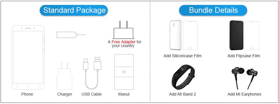 Redmi Note 4 EU Package Bundle details