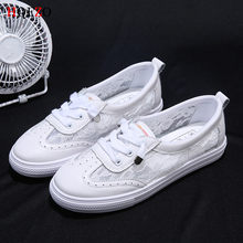 HQFZO Shallow Low White Sneakers Women Vulcanize Shoes Tenis Feminino Casual Female Woman Flats Breathable Summer Mujer