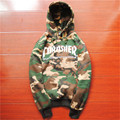 Thrasher Hoodie Army Green Caouflage Sweatshirt Mens Hip hop Streetwear Skateboards Hoody THRASHER Print Fashion Pullovers S-XXL