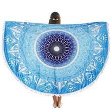 Venta caliente populares nuevo diseño de marca de alta calidad de yoga en casa clothround beach pool home ducha toalla manta paño de tabla