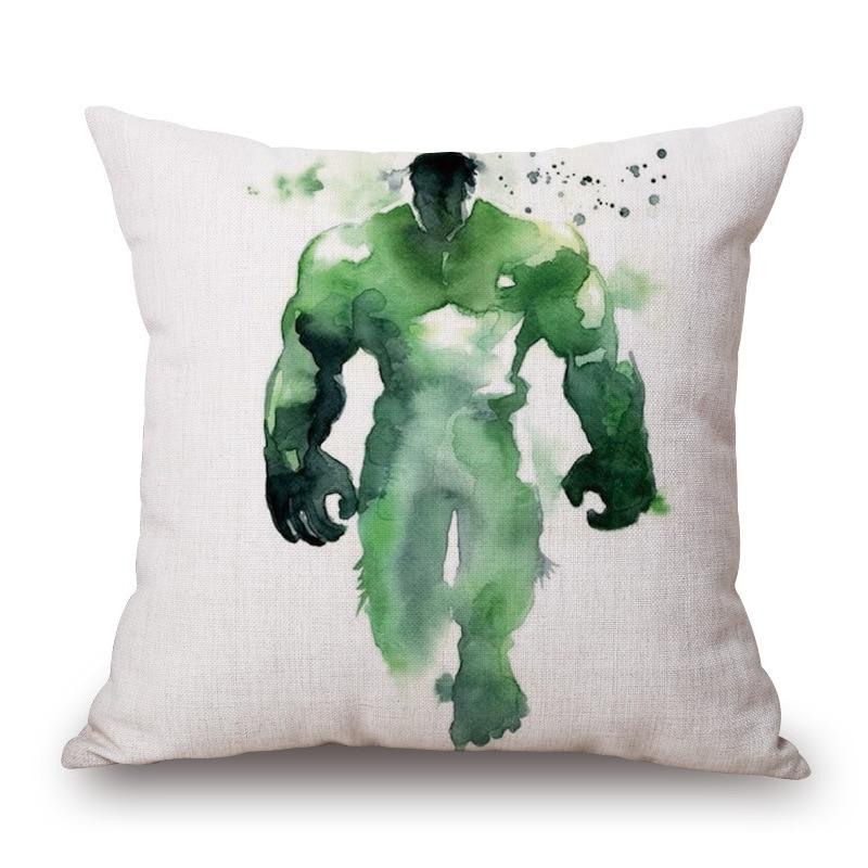 Us 5131 6 Off5 Sztukpartia Akwarela Hero Kapitan Ameryka Hulk Poszewki Poszewka Poduszki Dekoracyjne Poduszki Obejmuje Dzieci Sprzyjają
