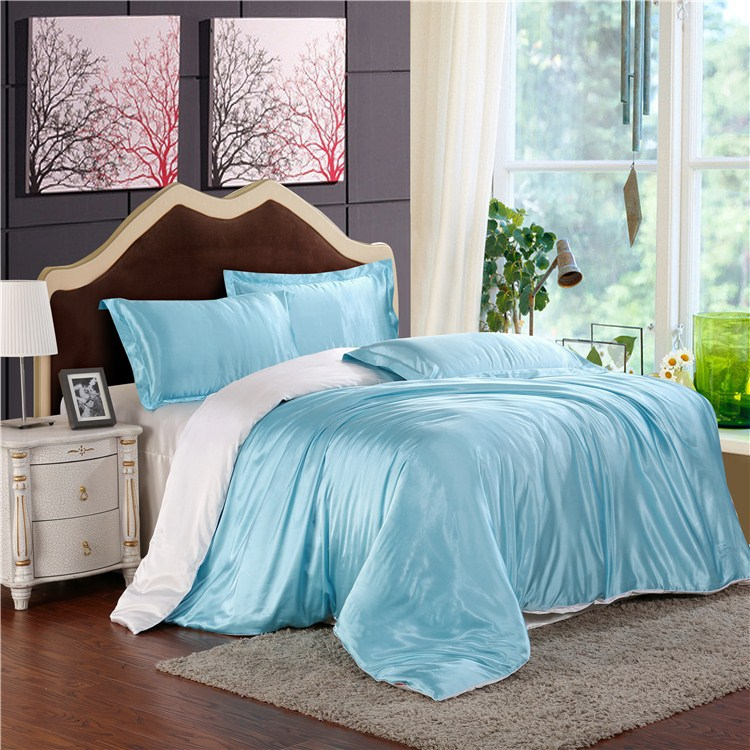 HOT! 100% pure satin silk bedding set,Home Textile Full/Queen/King size bed sheet,bedclothes,duvet cover flat sheet pillowcasesHOT! 100% pure satin silk bedding set,Home Textile Full/Queen/King size bed sheet,bedclothes,duvet cover flat sheet pillowcases