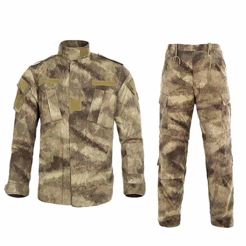 Camouflage Training Combat Tactical Shirt Pants Uniform Sets Men Outdoor Multifunction Hunting CS Airsoft Tops Trousers