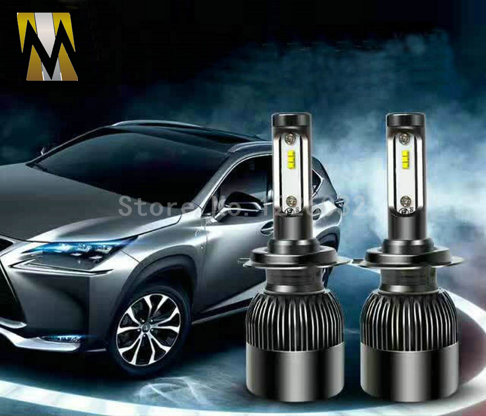 3 Sides Car Headlamps H7 LED Headlights Bulbs 36W 12V Cars 6 Chips Head Lamps 6000k White H7 H1 H4 H8 H11 9006 Light