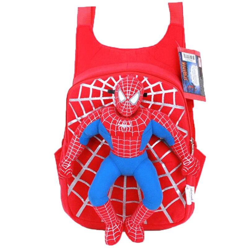 2018 Neue Kinder Nette 3d Spiderman Rucksack Baby Schultasche Für Jungen Mädchen Cartoon Spider-man Taschen Kinder Plüsch Mochila Infantil Schrumpffrei