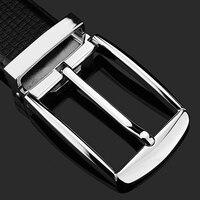 Black Formal Belt Men Trousers Ceinture Homme Cowskin Fashion Pin Buckle Full Grain Leather Waist Strap
