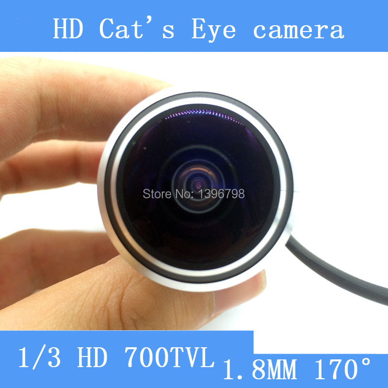 все цены на Mini cat's-eye Door Video Camera 170 Wide Angle 700TVL 5MP Wired Color DOORVIEW surveillance camera онлайн