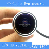 Mini cat's eye Door Video Camera 170 Wide Angle 700TVL 5MP Wired Color DOORVIEW surveillance camera