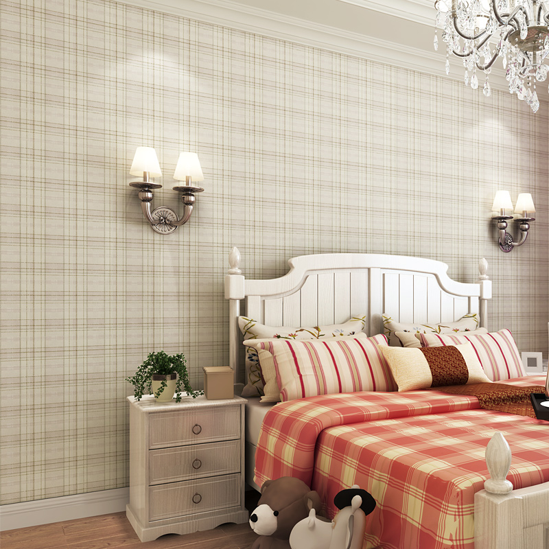 beibehang papel de parede  Modern minimalist three-dimensional lattice Non-woven wallpaper bedroom living room sofa backdrop modern minimalist striped glitter wall paper non woven wallpaper for living room sofa tv background wallcovering papel de parede