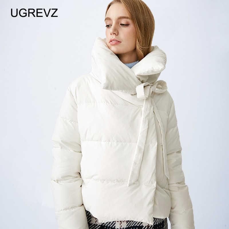 Kurtka zimowa kobiety Plus rozmiar 2019 nowych kobiet parki zagęścić odzież wierzchnia stałe płaszcze krótkie kobiece szczupła bawełny wyściełane podstawowe topy