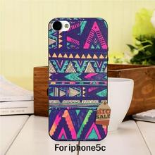 Retro colorful cowboy triangle geometric patterns Colorful Cute phone Accessories For case iPhone 5c