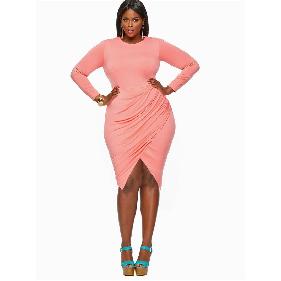 80fc2bb56330 2018-Plus-Size-Fashion-Women-2527s-Bodycon-Sexy-Long-Sleeve -Black-252FPink-Furcal-Knee-length-Dress.jpg