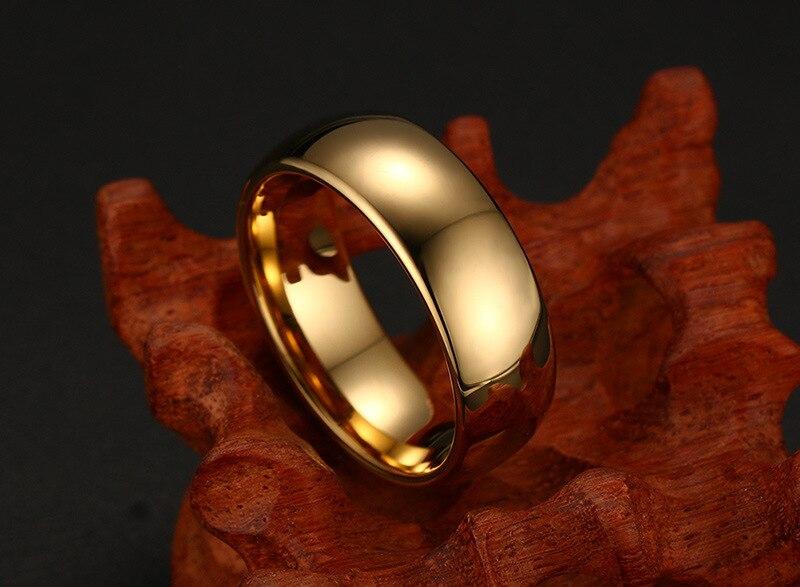 Купить мужские кольца из вольфрама золотого цвета размеры 6 7 8 9 10