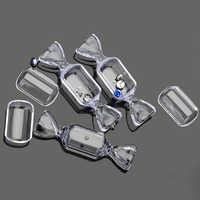 Circolare A Forma di Caramella Scatole di Cassa Trasparente Trasparente Scatola di Plastica Per Perline Gioielli Pillole Piercing Contenitore di 5PCS di Trasporto