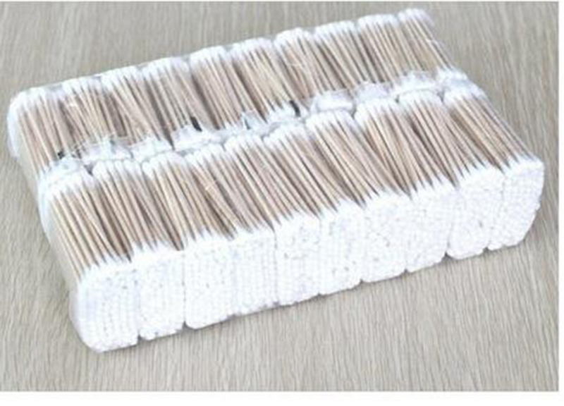 10Pack/300pcs/lot Beauty Makeup Cotton Swab Double Head Cotton Buds Make Up Wood Sticks Nose Ears Cleaning Cosmetics Health Care