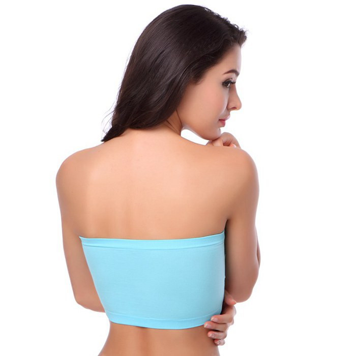6 Colors Anti Exposure Comfortable Tube Tops Double-deck without Straps for Women Sexy Girl Women's Tube Tops Plus Size 12
