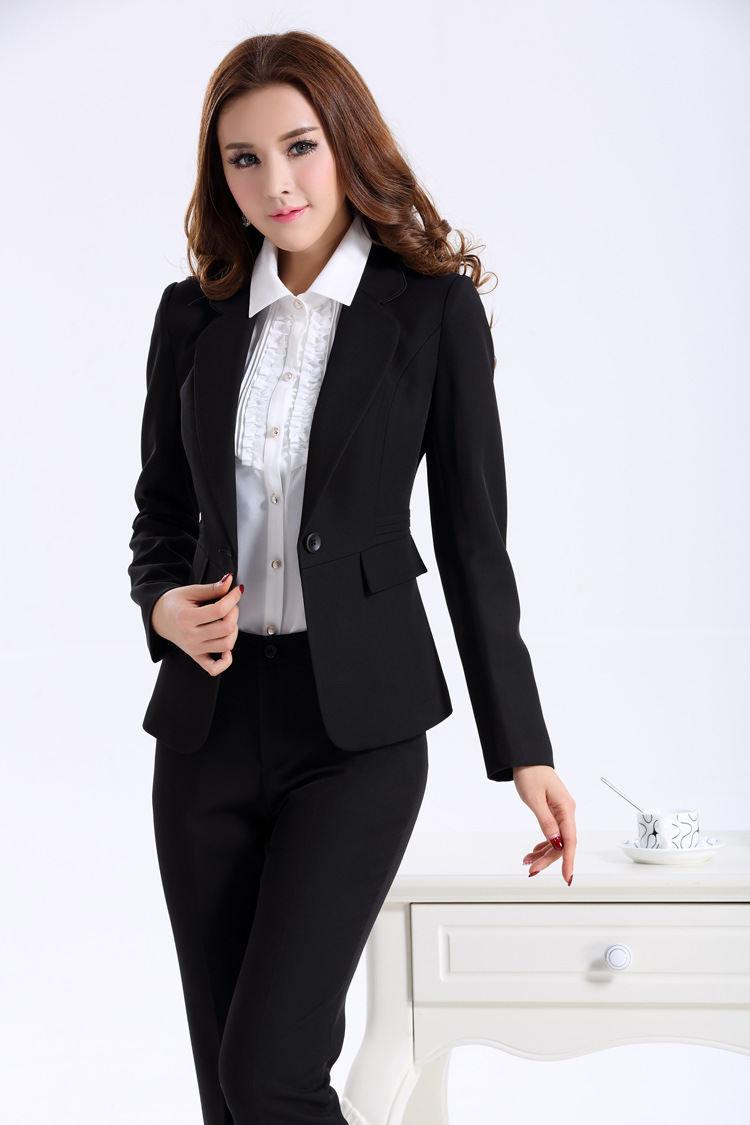 Women Business Suits Formal Office Work Wear Autumn Winter 2017 New Elegant Las Uniform Style Pant Suit Black In From S