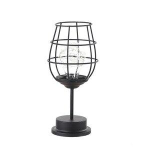 Image 5 - LED Retro Lamp Ijzeren Tafel Winebottle Koperdraad Nachtlampje Creatieve Hotel Home Decoratie Bureaulamp Night Lamp Batterij Aangedreven