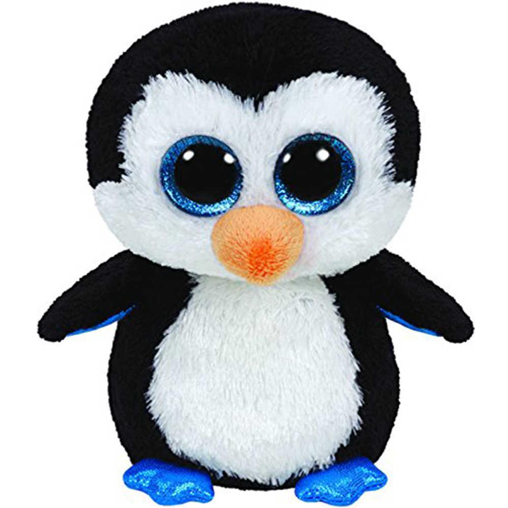 """Pyoopeo Оригинал Ty Boos 10 """"25 см Waddles пингвин плюшевые средние с большими глазами мягкие животные коллекция кукла игрушка с биркой в виде сердца"""