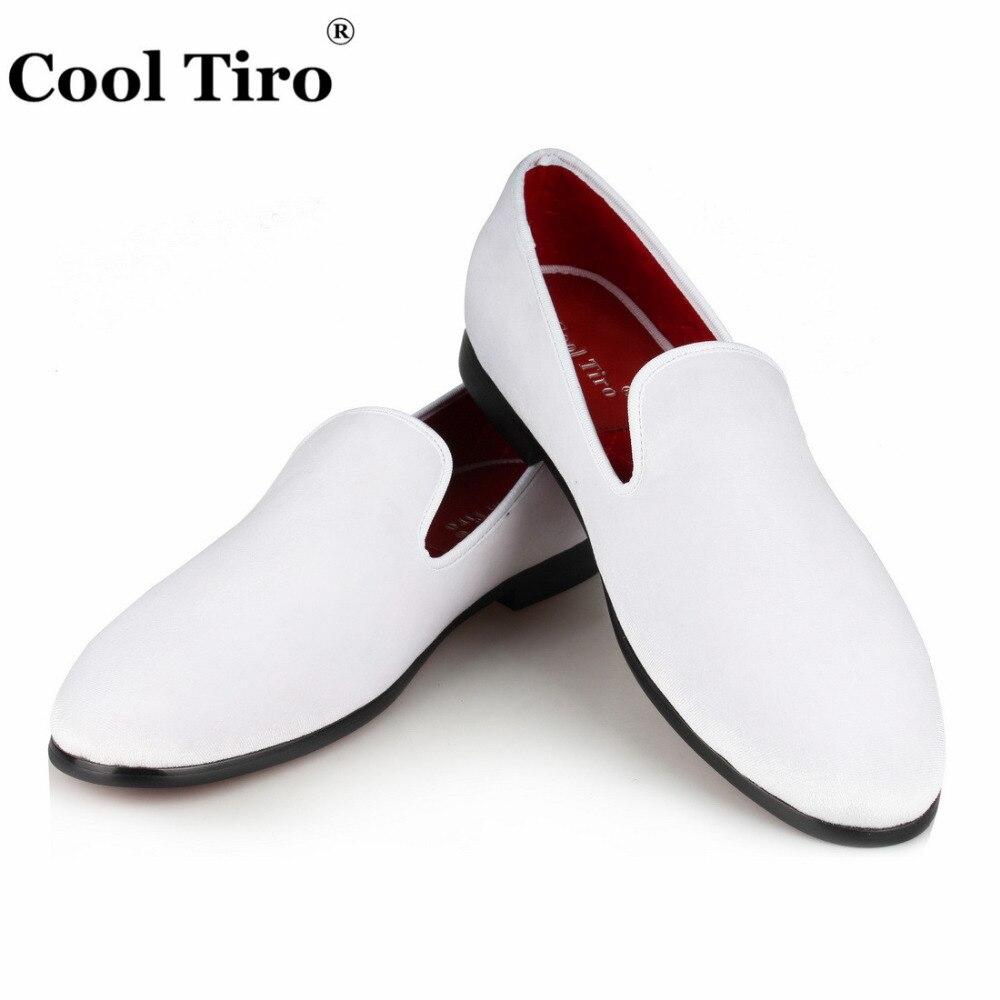 COOL TIRO hommes mocassins velours robe chaussures à la main fumer pantoufles appartements chaussures décontractées mariage fête formelle chaussures noir blanc rouge-in Chaussures d'affaires from Chaussures    1