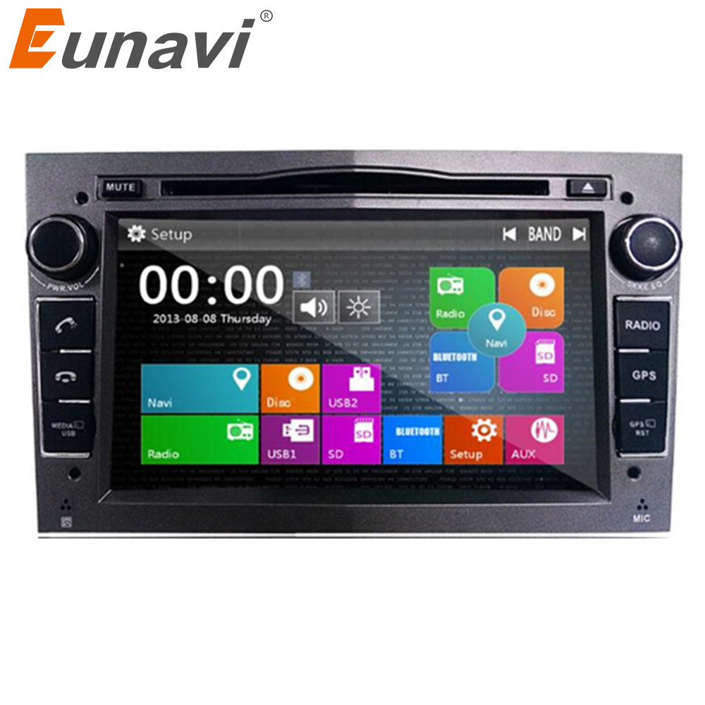 Eunavi 2 Din Car DVD For Opel Astra Vectra Corsa Meriva Zafira with GPS Navi Bluetooth Radio RDS 3g USB SD Canbus Map gift