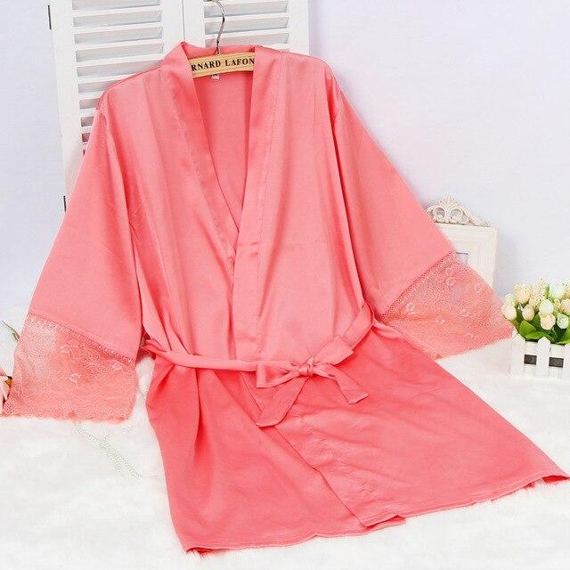 Шелковый Атлас Свадьба Невеста Невесты Халат Плюс Размер Кимоно Одеяние Ночь Bathwear Моды Одежды Для Женщин 2016 Новая Горячая Пижамы