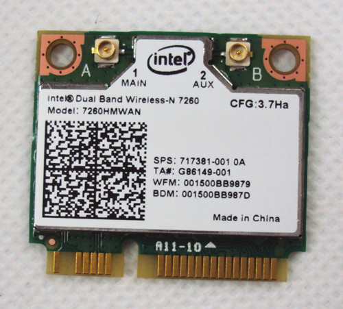 Intel Wireless-n 7260 802.11bgn 2x2 2.4ghz Wifi + Bluetooth 4.0 802.11b/g/n Adapter 7260hmw Bn 802.11n Wireless Card For Laptop цена 2017