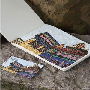 Image 5 - ランダムな色文房具木製 A5 ノートブックスケッチブック空白メモ帳水彩紙学校ギフト用品ヴィンテージブック