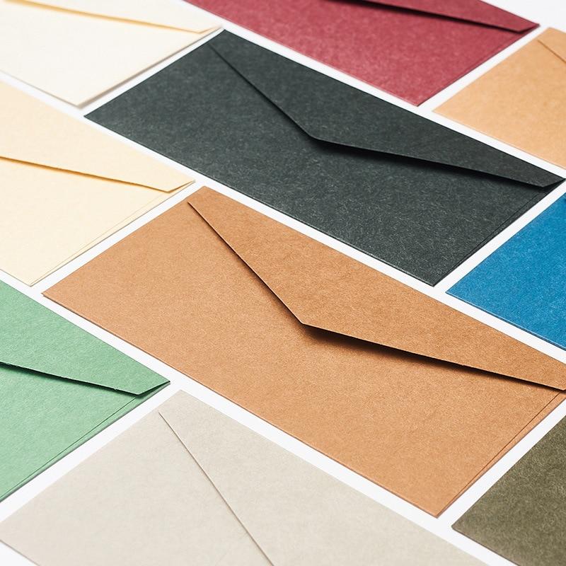 50 PCS/lot 22*10.8cm Western Style Restore Ancient Ways Business Affairs Colour Pure Blank 5 Number Kraft Paper Envelope