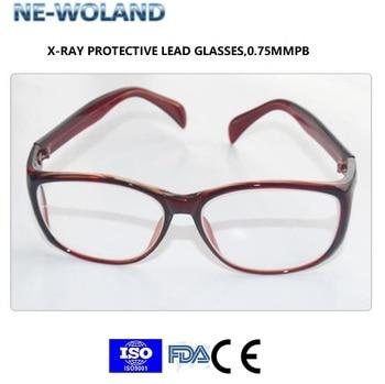0.75 MMPB Radiologiczne Ołów Do Ochrony Okulary, Przeszedł CE, FDA, ISO9001, Stosuje Się Do Radioaktywnych, Jamy Ustnej I Klinika Stomatologiczna, Szpitala.