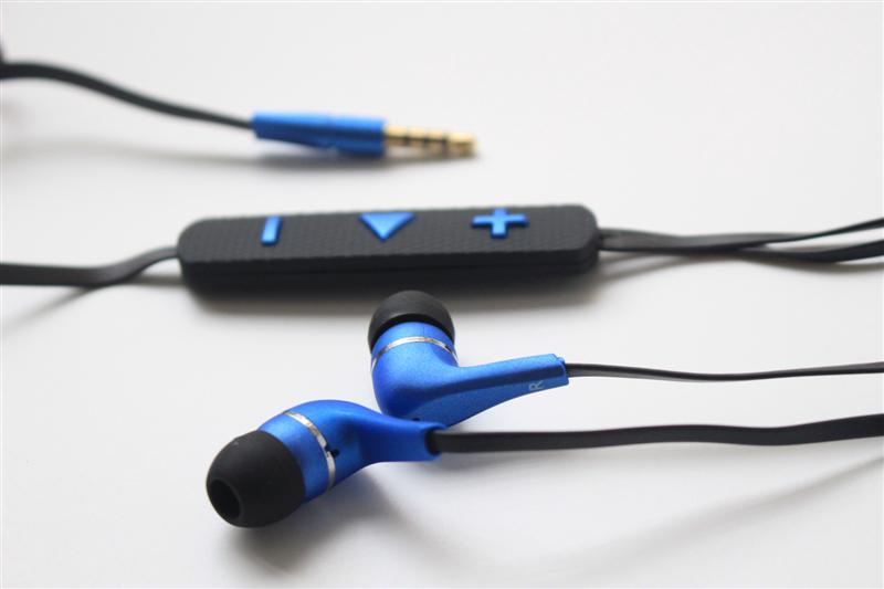 2016 Handsfree coloful earphone with volume control sport earpiece for MP3 Audio players mobile phones 1000pcs/lot