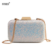 NYHED Women Wedding Ceremony Clutches Marriage Party Evening Chains Handbag Dinner Bag