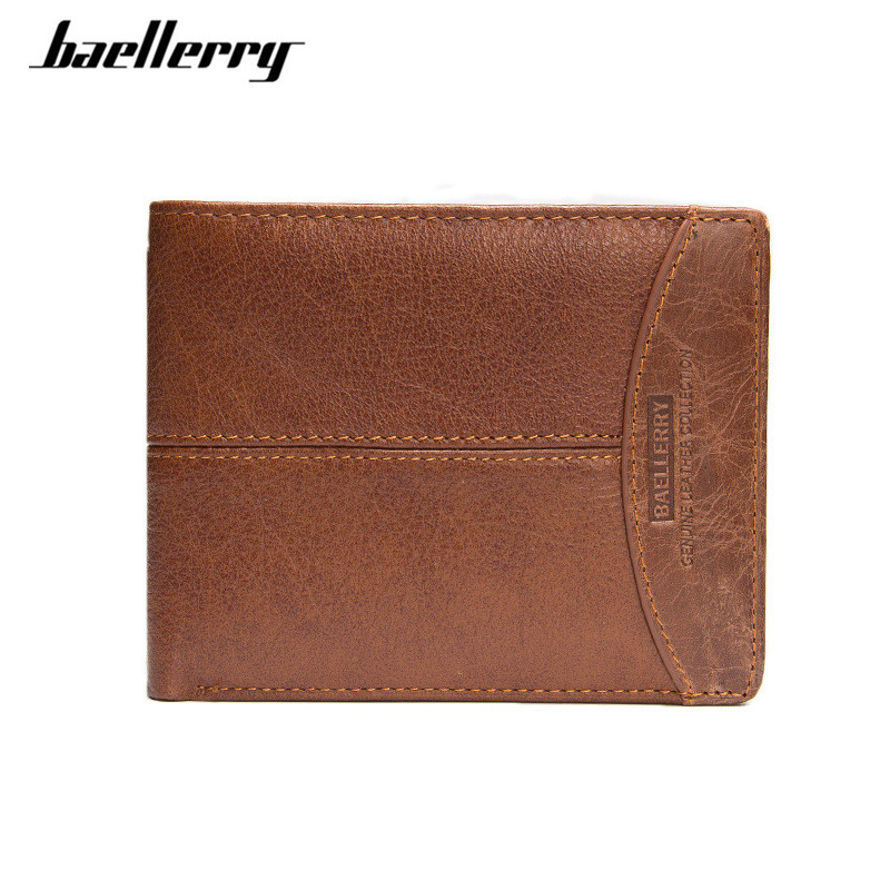 Baellerry Brand Genuine Leather Men Wallets Purse Money Bag Fashion Male Wallet Card Holder Coin pocket Purse short Wallet slymaoyi classical men wallets genuine leather short wallet fashion zipper brand purse card holder wallet man with coin bag page 4