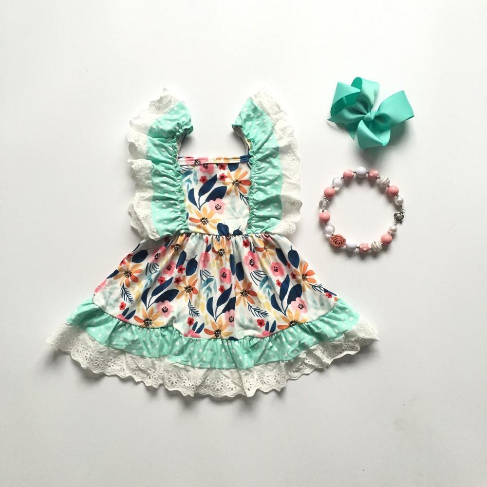 Baby Girls Summer Dress Baby Girls Clothes Floral Dress Girls Milk Silk Dress With Accessories