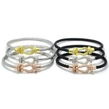 ФОТО j.k  18cm male femme love bijoux wristband crystal bracelets & bangles for fashion stainless steel jewelry men women bangle