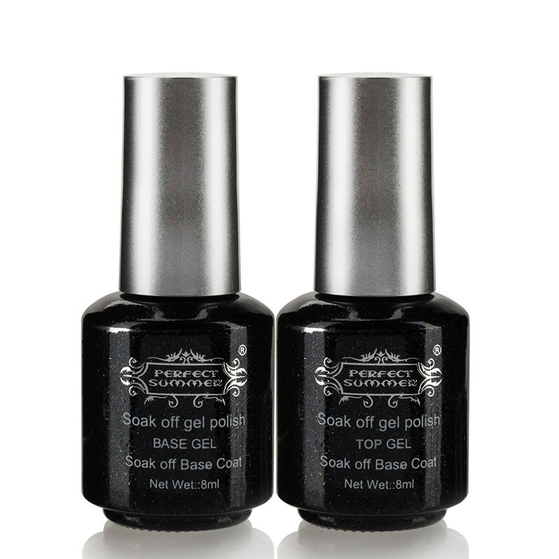 Nail Gel Brands: Perfect Summer Base Top Coat Nail Gel Polish 8ml