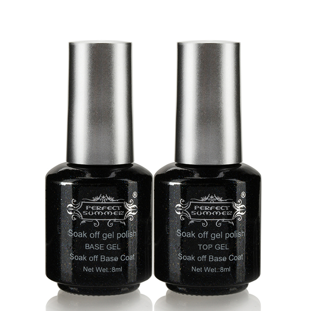 Perfect Summer Base Top Coat Nail Gel Polish 8ml Professional Brand Nail Art Salon
