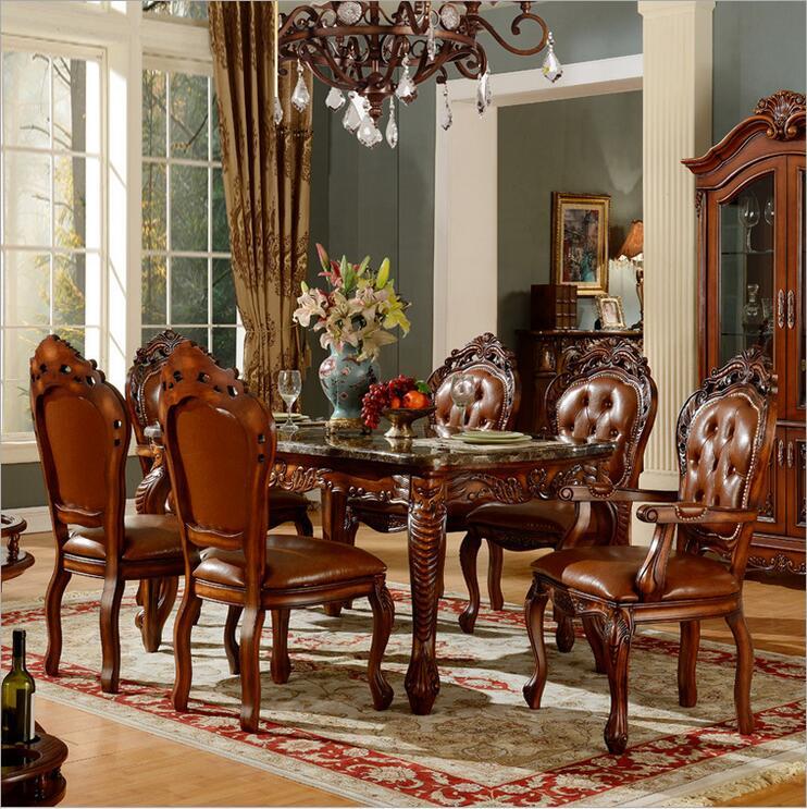 high quality European modern fabric chair dining table set 6 chairs 1084 high quality european modern leather chair dining chairs 1089