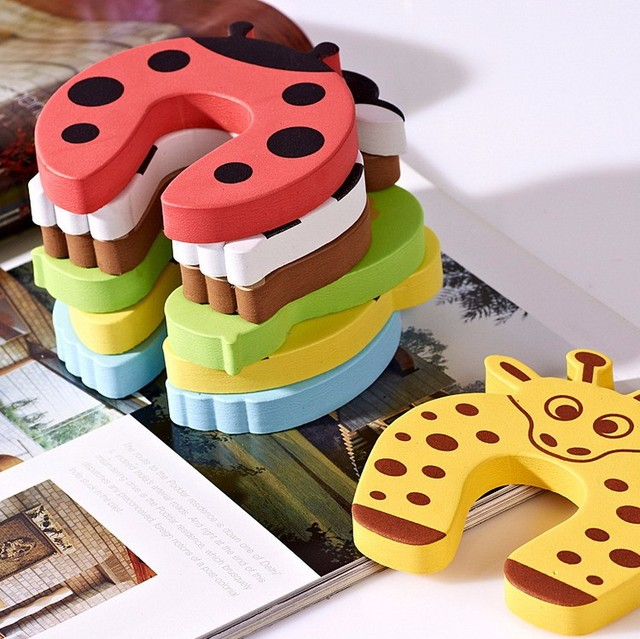 5Pcs/Lot Animal Baby Security Door Card Protection Tools Baby Safety Gate Products Newborn Care Cabinet Locks Straps