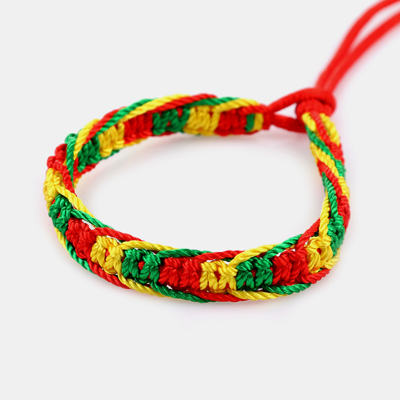 Cheap brazilian bracelet multicolor braided boho chain bohemian tassel handmade sport chain friendship bracelets neon unisex 2