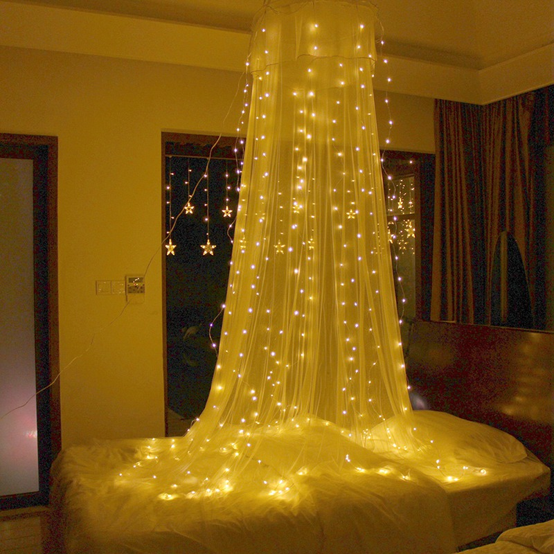 300LED Curtain Icicle led String Lights Christmas New Year Wedding Party decorative outdoor fairy Lights christmas decoration 6 3m droop 600 led curtain string lights icicle 220v for new year garden christmas led light curtain