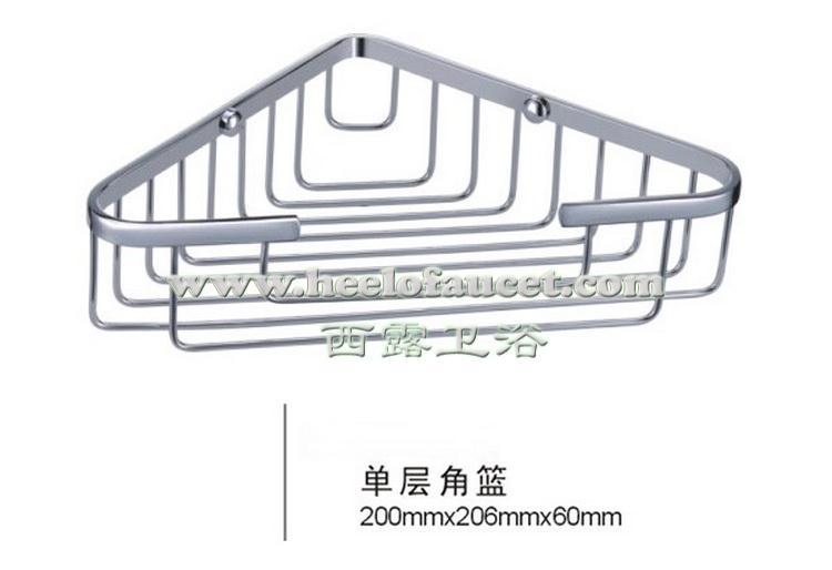 Comprar Latón hardware baño soporte de la esquina solo nivel esquina estantería de baño cesta de bathroom shelf fiable proveedores en HEELO Official Store