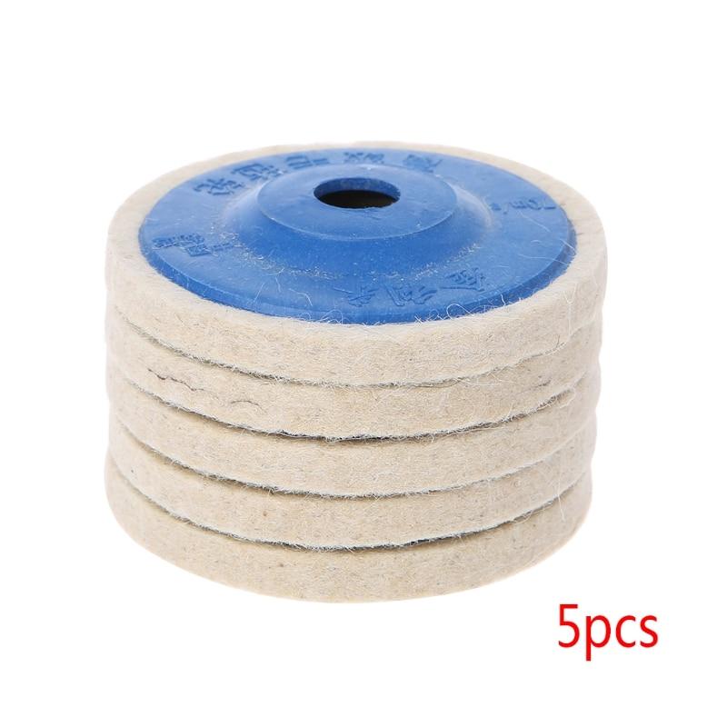 """9pcs 4/"""" 100mm Round Polishing Wheel Felt Wool Buffing Polishers Pad Buffer White"""