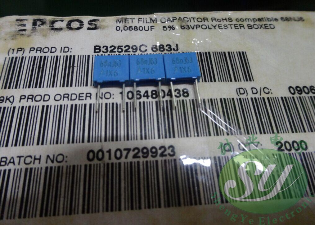 2019 hot sale 20PCS/50PCS EPCOS 0.068uf/63v 68nf 683 The new 5MM film capacitor B32529C683J free shipping2019 hot sale 20PCS/50PCS EPCOS 0.068uf/63v 68nf 683 The new 5MM film capacitor B32529C683J free shipping
