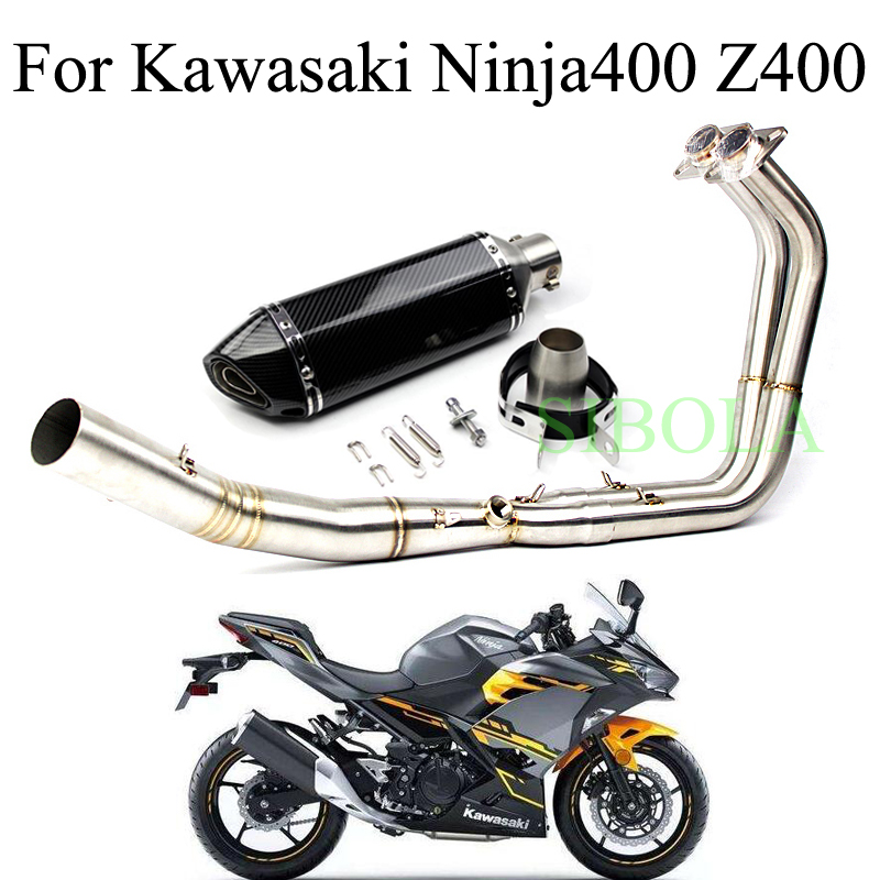 US $106 02 32% OFF|For Kawasaki Ninja 400 Z400 2018 Years Motorcycle  Exhaust Muffler Full Systems 51mm Stainless Steel 304 Tube escapamento  moto-in