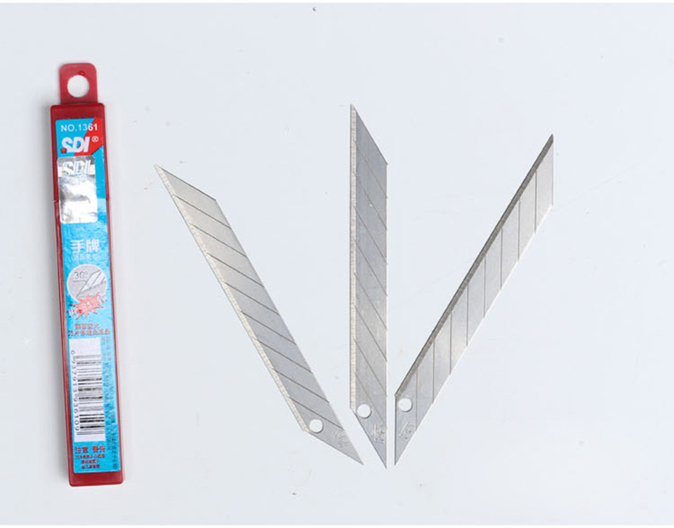 Image 5 - SK2+Cr 30 Degree Snap Off Utility Sharp Knife Replacement Blade 9mm 50 Blades/Pack SDI 1361-in Car Stickers from Automobiles & Motorcycles
